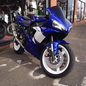 Gary's Yamaha R1 outside our Leicester store
