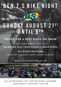 Ben.Z.S bike day and night at J&S Accessories Oakmere store