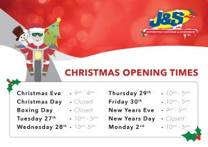 2016 Christmas Opening Times