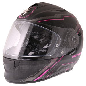 Scorpion Exo 510 sync helmet in pink front view
