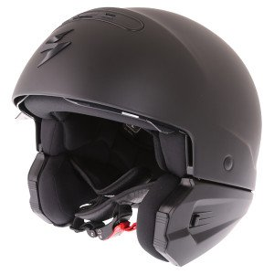 Scorpion Exo Combat helmet switched to open face