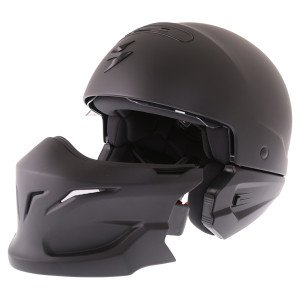 Scorpion Exo Combat helmet with removable chin guard