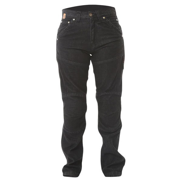 Ladies Red Route 009 Ride-Out Black Jeans