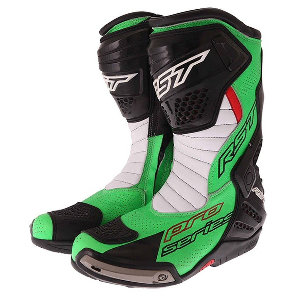RST Pro Series 1503 Race CE Boots in Neon Green