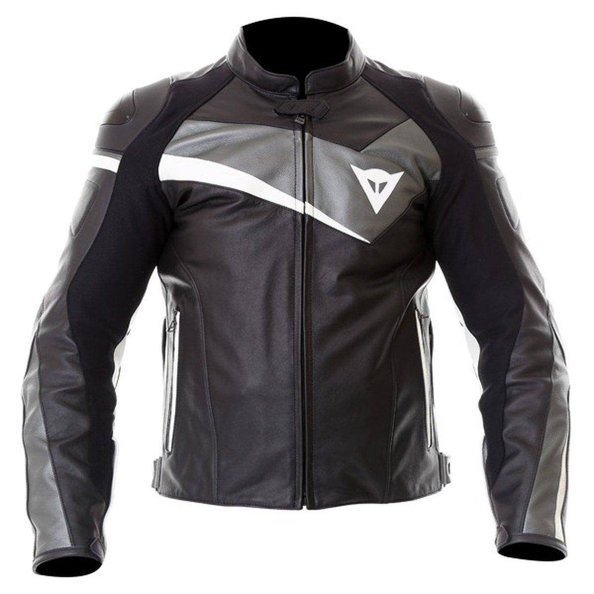 Dainese Velostar Leather Jacket Black and Anthracite