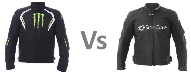 Motorcycle Clothing Textile vs Leather
