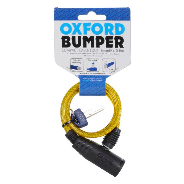 Oxford Products Bumper Cable Lock Yellow