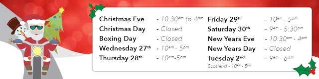 Christmas 2017 Store Opening Times