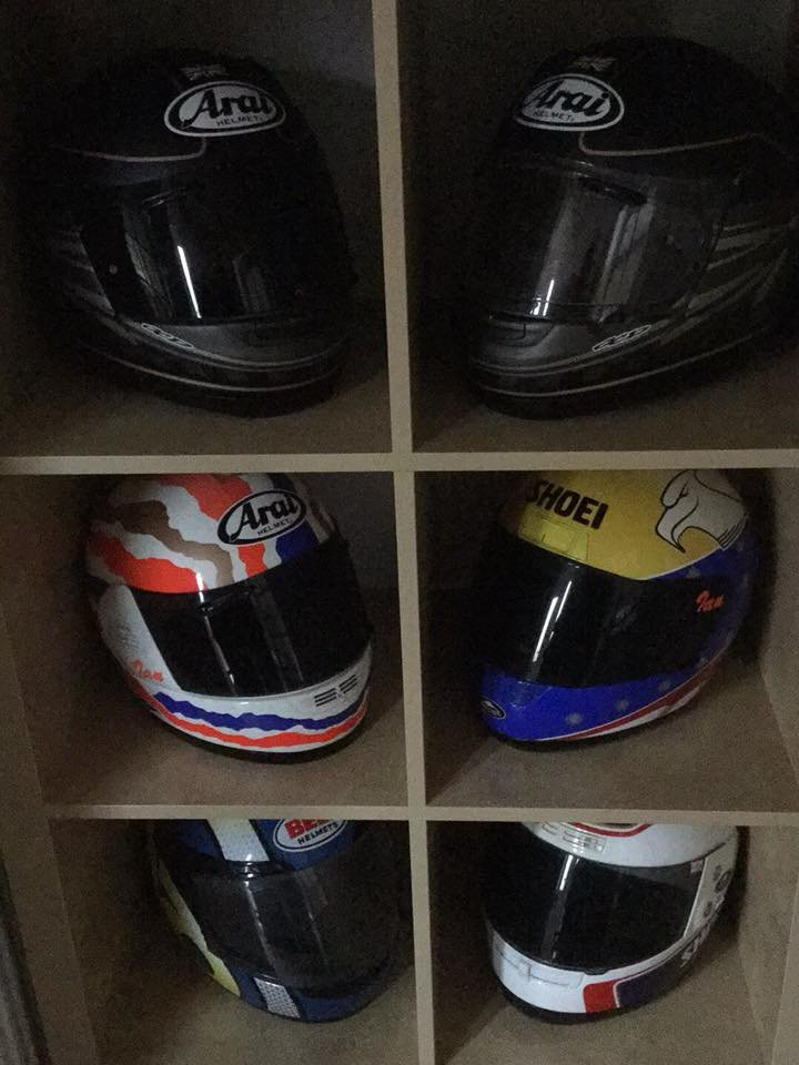 Ian Winterbottom's Arai, Bell and Shoei collection