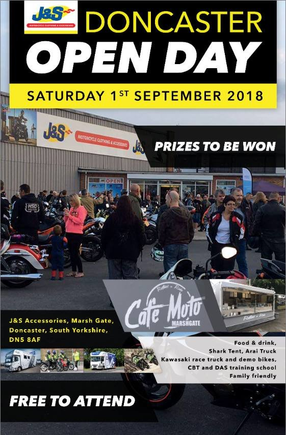J&S Doncaster Open Day Saturday September 1st 2018
