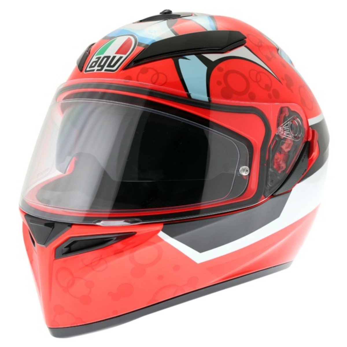 AGV K3 SV Full Face Motorcycle Helmet with Attack Graphic
