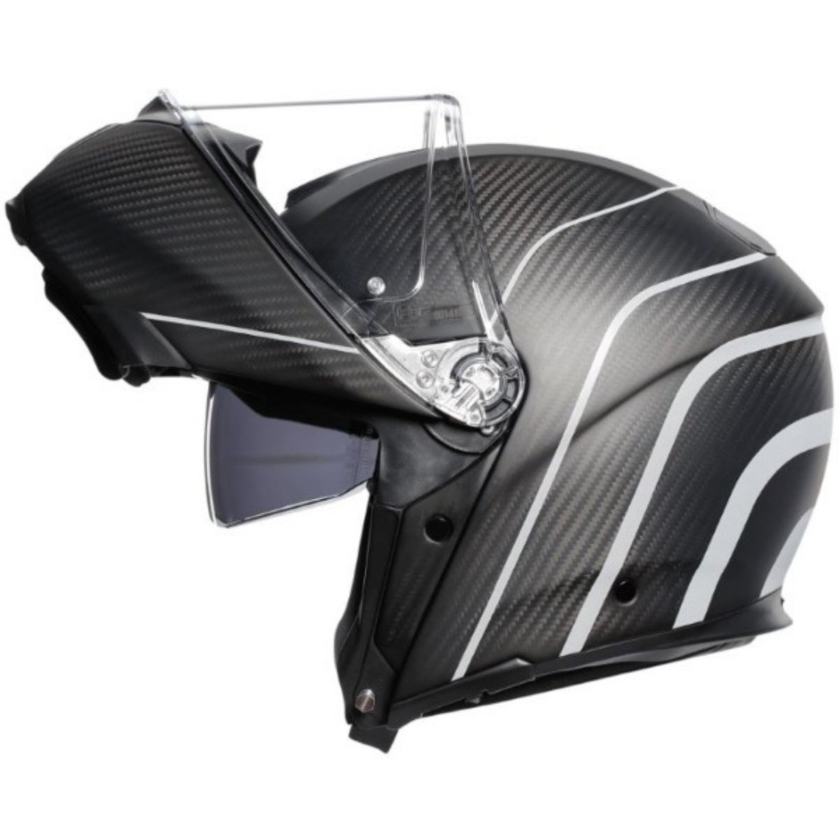 AGV Sports Flip Front Modular Motorcycle Helmet in Carbon Silver