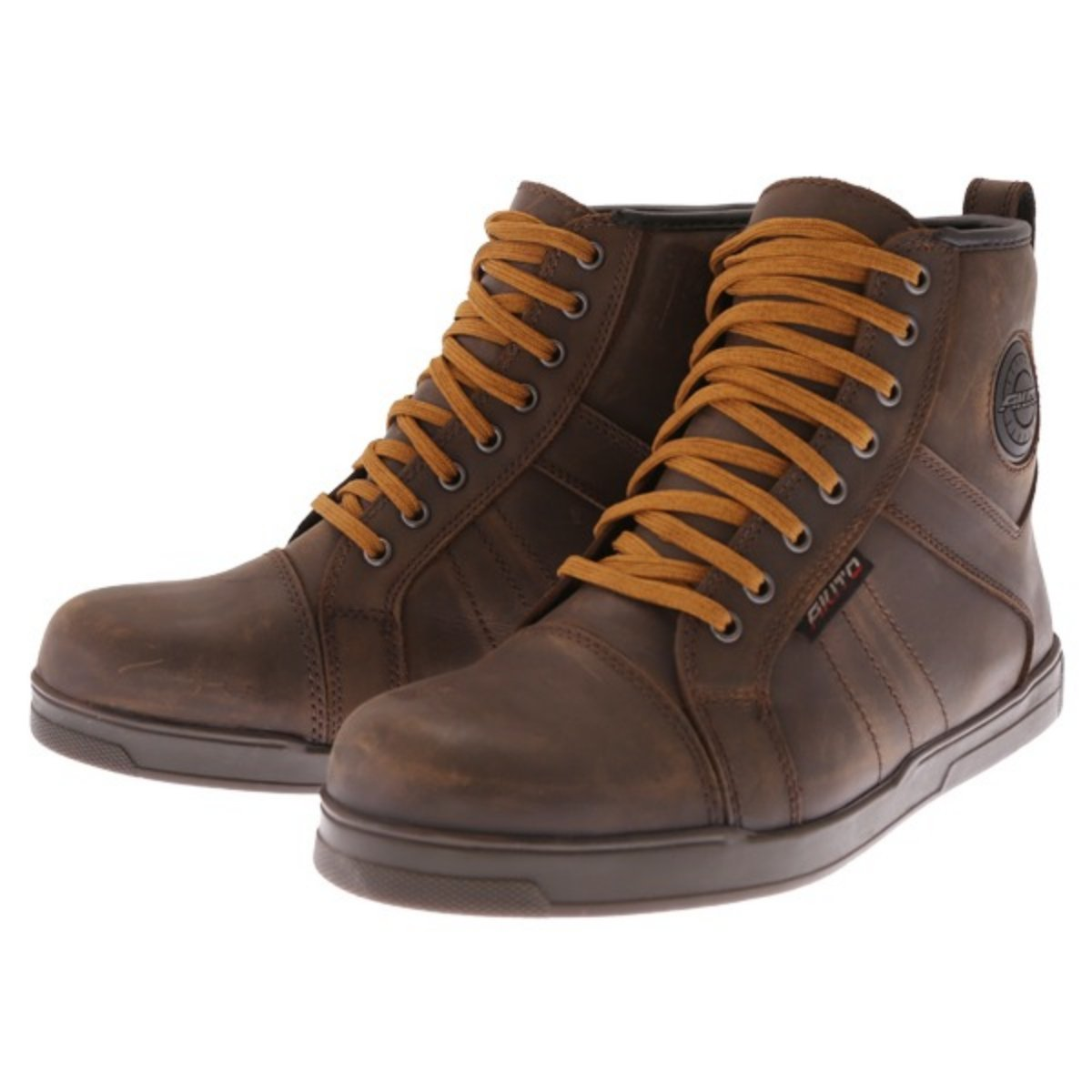 Akito Citizen Brown Waterproof Motorcycle Boots