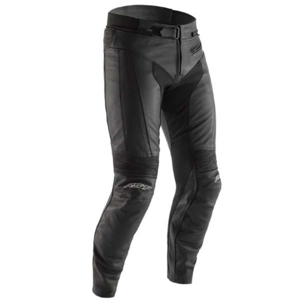 RST R-Sport CE Black Leather Motorcycle Jeans