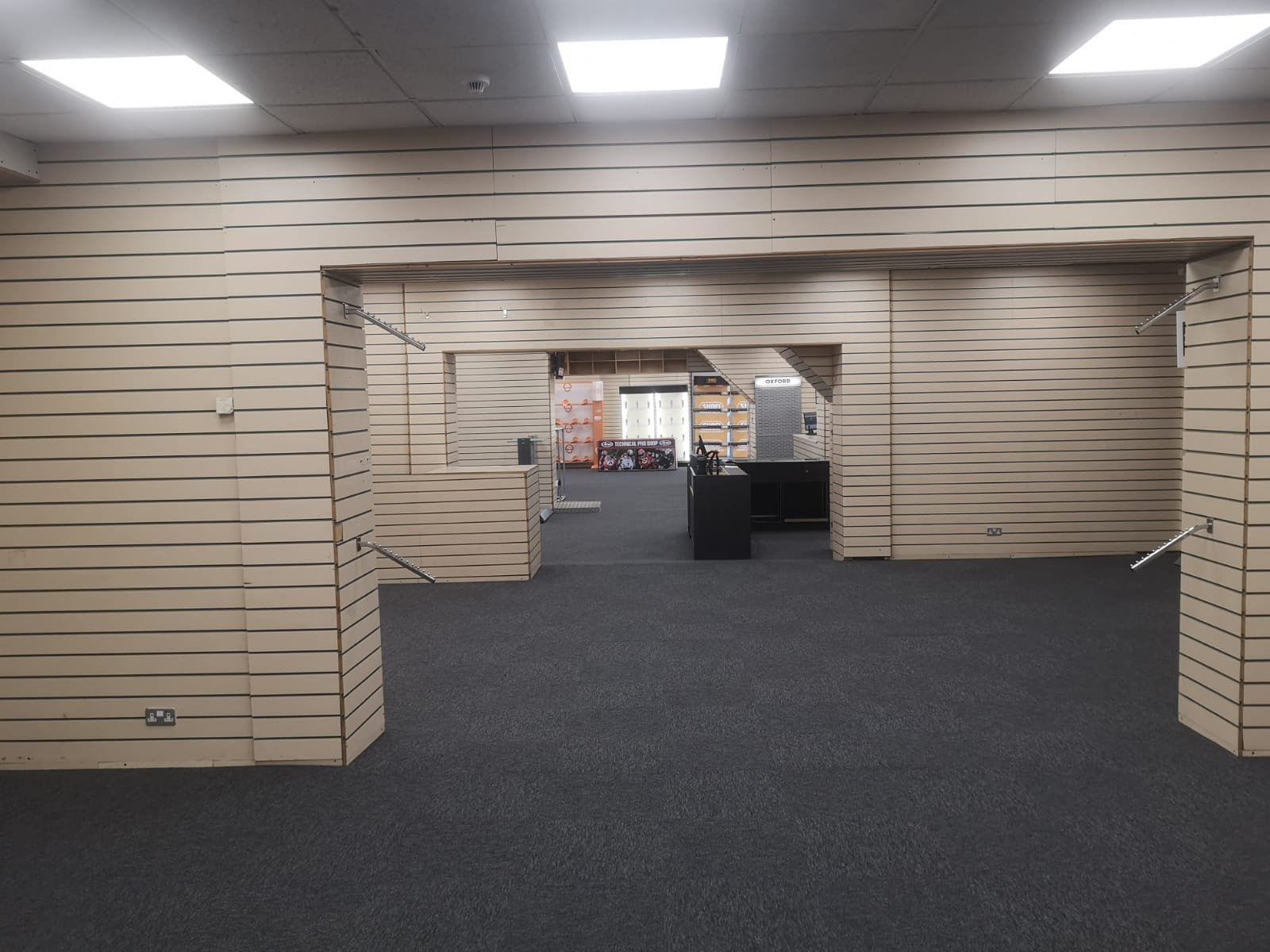 Looking down the store