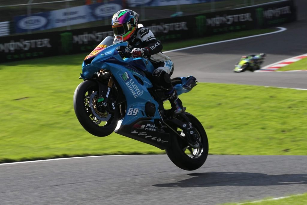 Taylor Moreton in action at Cadwell