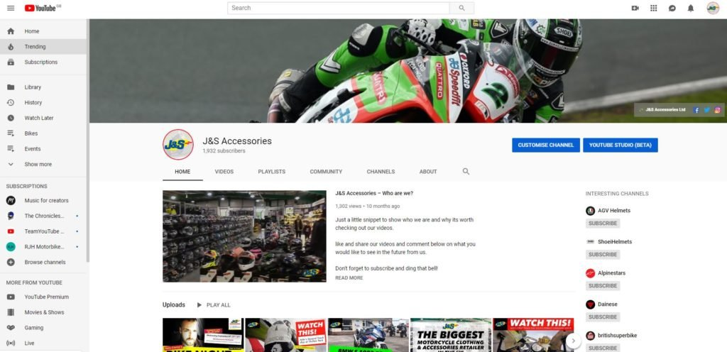 J&S Accessories YouTube
