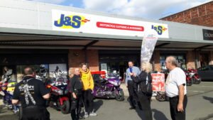 Roman Kemp and the Honda Goldwing Owners Club of Great Britain at J&S Accessories Ltd MAnchester