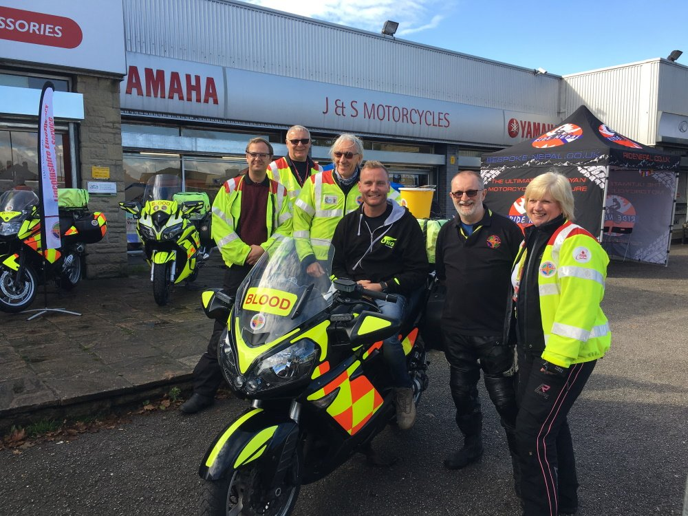 Billy McConnell wih the Blood Bikers