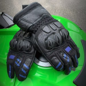 Frank Thomas Review 1.0 Leather Motorcycle Gloves Blue