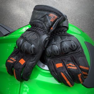 Frank Thomas Review 1.0 Leather Motorcycle Gloves Orange
