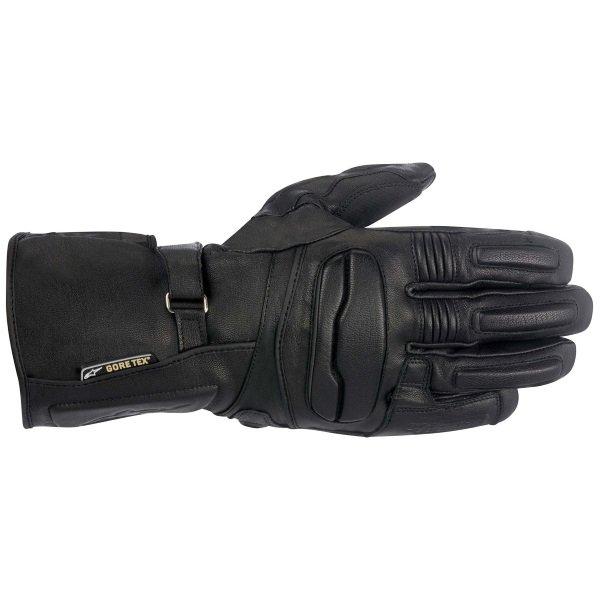 Alpinestars WR-1 Black Motorcycle Gloves Back