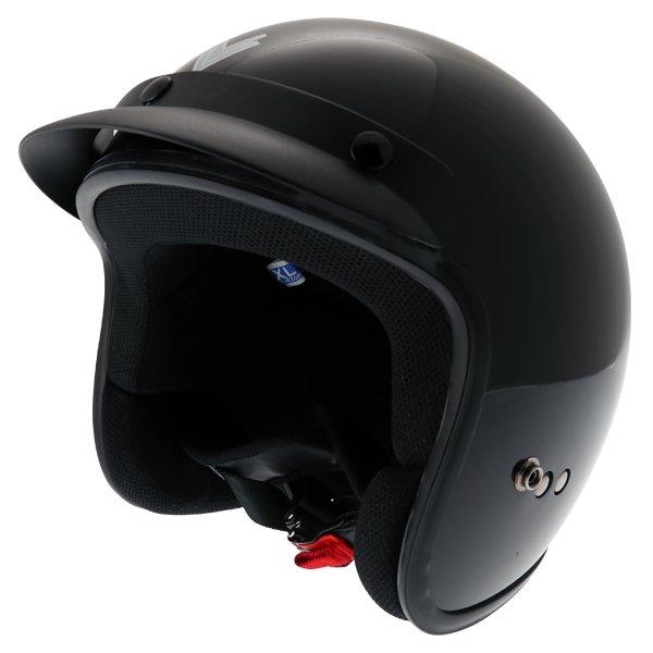OF01 Open Face Helmet Black Open Face Motorcycle Helmets