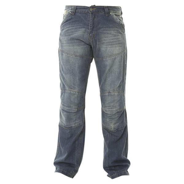 009 Ride Out Jeans Distress Blue Denim Motorcycle Jeans