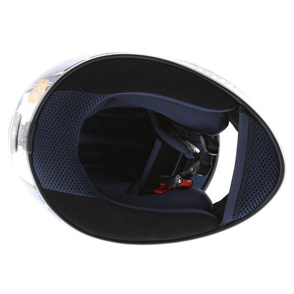 AGV K4 Vyrus Helmet Blue Silver Size: XS