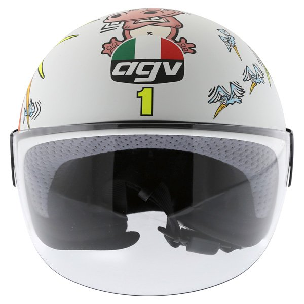 AGV Valentino Rossi 46 White Zoo Full Face Motorcycle Helmet Front