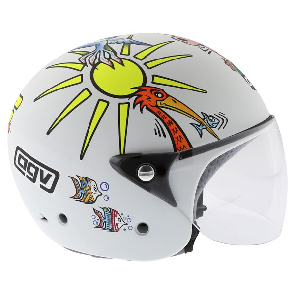 AGV Valentino Rossi 46 White Zoo Full Face Motorcycle Helmet Right Side