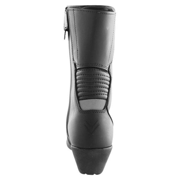 Frank Thomas EW-01 Isabella Black Ladies Motorcycle Boots Heel