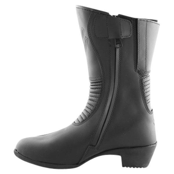 Frank Thomas EW-01 Isabella Black Ladies Motorcycle Boots Inside leg