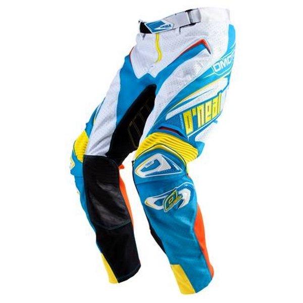 Hardware Vented Pants White Blue Motocross