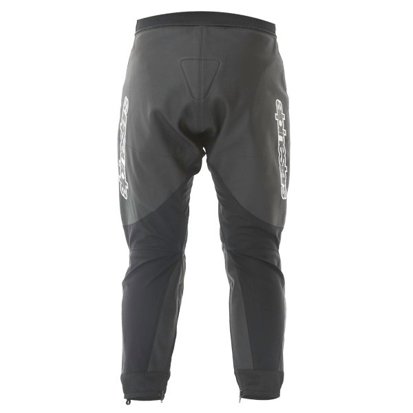 Alpinestars Gp Plus Black Leather Motorcycle Jeans Rear
