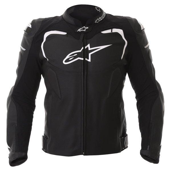 Alpinestars Gp Pro Black Leather Motorcycle Jacket Front