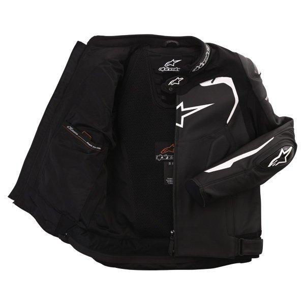 Alpinestars Gp Pro Black Leather Motorcycle Jacket Inside