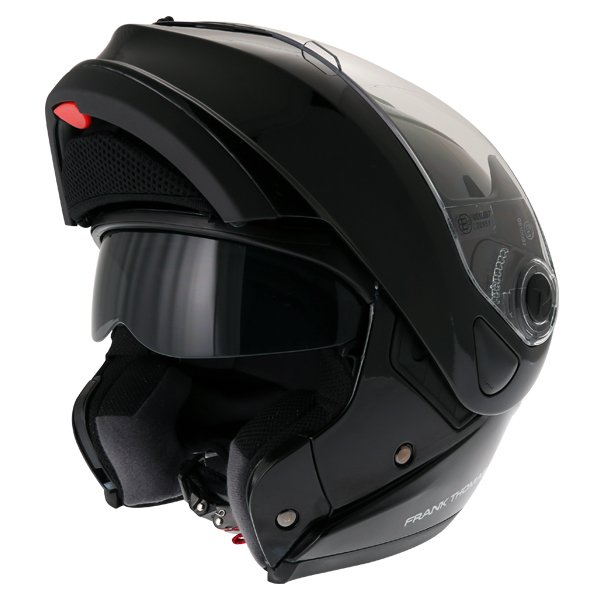 Frank Thomas DV06 Black Flip Front Motorcycle Helmet Flip Open