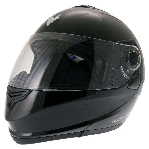 Frank Thomas DV06 Black Flip Front Motorcycle Helmet Front Left