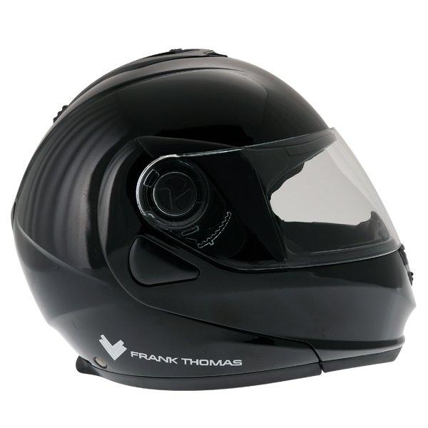 Frank Thomas DV06 Black Flip Front Motorcycle Helmet Right Side