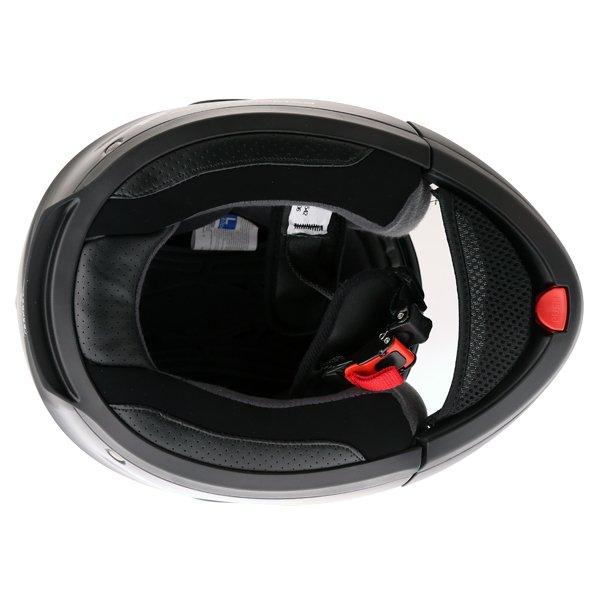 Frank Thomas DV06 Black Flip Front Motorcycle Helmet Inside
