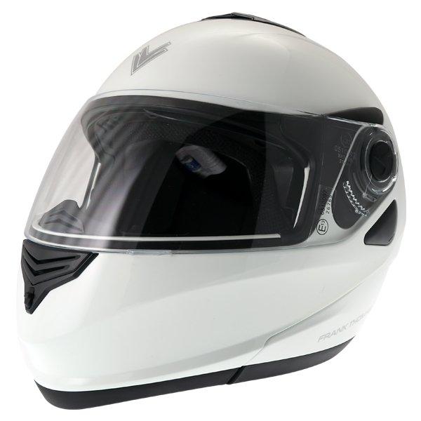 Frank Thomas DV06 White Flip Front Motorcycle Helmet Front Left