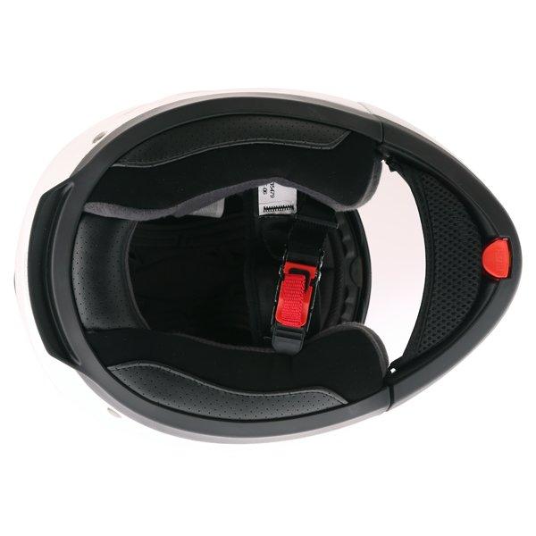 Frank Thomas DV06 White Flip Front Motorcycle Helmet Inside