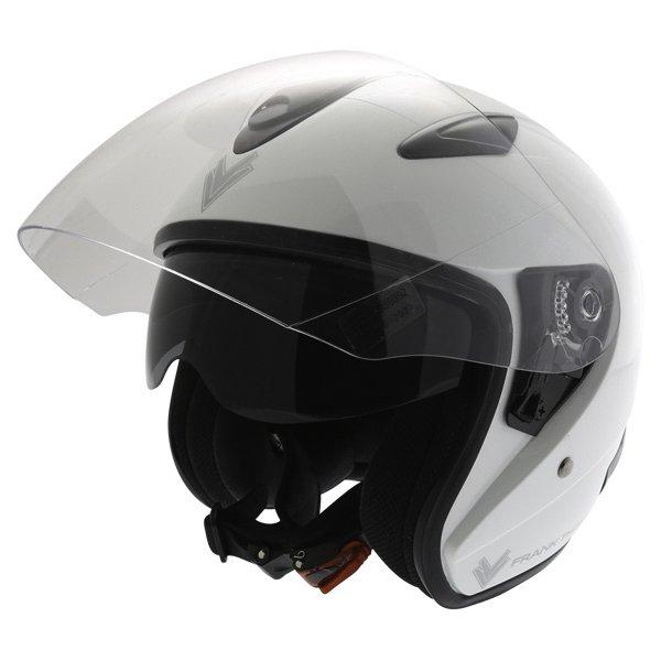 Frank Thomas DV28 Open Face White Open Face Motorcycle Helmet Open With Sun Visor