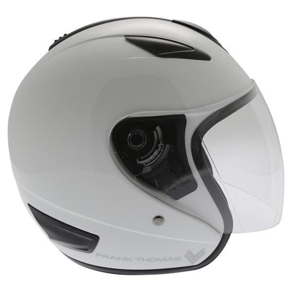 Frank Thomas DV28 Open Face White Open Face Motorcycle Helmet Right Side