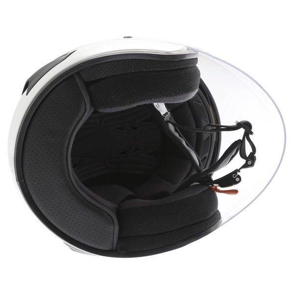 Frank Thomas DV28 Open Face White Open Face Motorcycle Helmet Inside