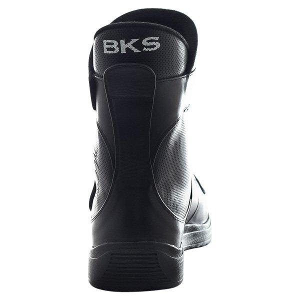BKS BKB1113 Sports Short Black Motorcycle Boots Heel