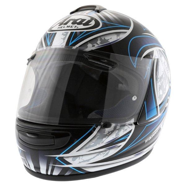 Arai Chaser-V Flash Blue Full Face Motorcycle Helmet Front Left