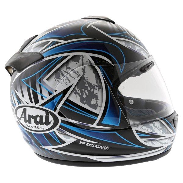 Arai Chaser-V Flash Blue Full Face Motorcycle Helmet Right Side