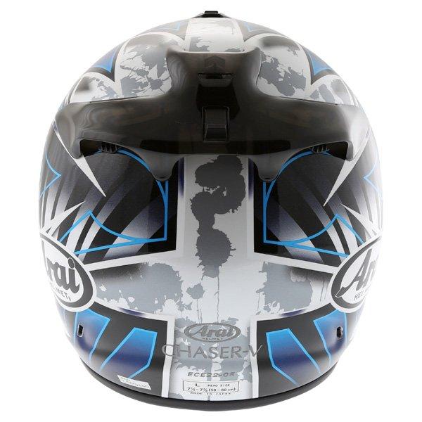 Arai Chaser-V Flash Blue Full Face Motorcycle Helmet Back